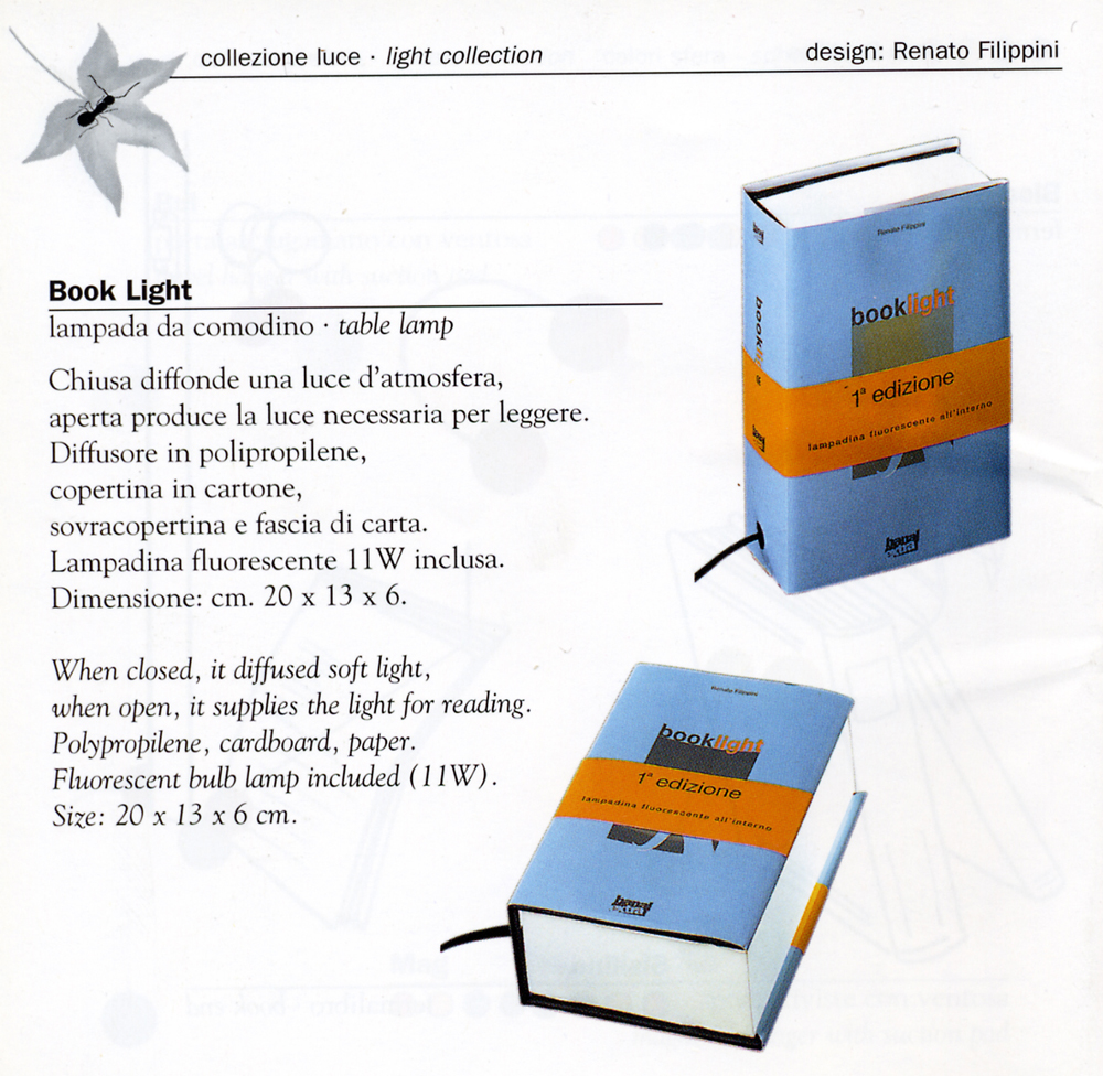 design catalogo book light