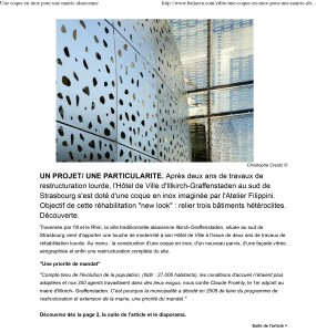 Une coque en inox pour une mairie alsacienne